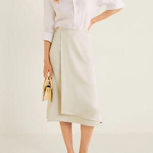 Mango Skirts - Layered look satin skirt